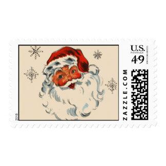 Retro Santa With Stars Postage