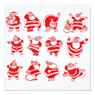 Retro Santas Card