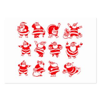 Retro Santas Gift Tag Large Business Card