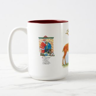 Retro Santas Mug