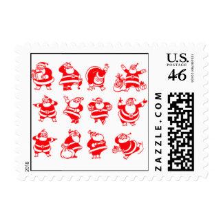 Retro Santas Stamps