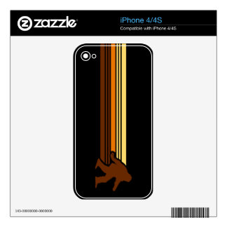 Retro Sasquatch Design Skin for the iPhone Decal For The iPhone 4
