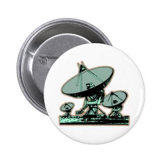 Retro Satellite Dish Pinback Button