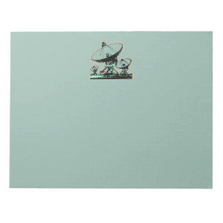 Retro Satellite Dish Graphic Notepad