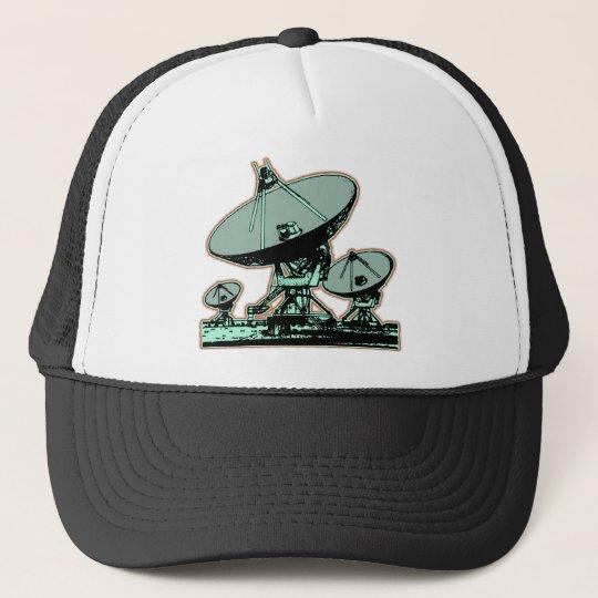 Retro Satellite Dish Graphic Trucker Hat