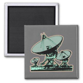 Retro Satellite Dish Fridge Magnets
