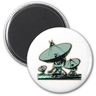 Retro Satellite Dish Refrigerator Magnets