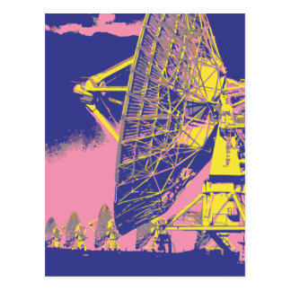 Retro Satellite Dish Postcard