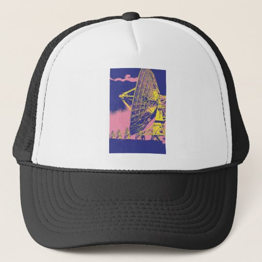 Retro Satellite Dish Trucker Hat