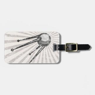Retro satellite luggage tag