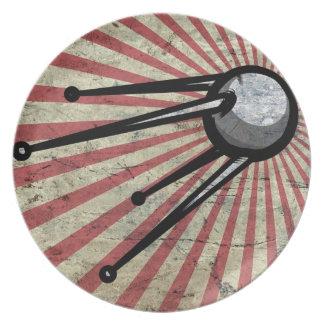 Retro satellite party plate