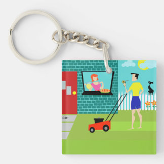 Retro Saturday Morning Acrylic Keychain