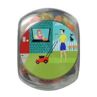 Retro Saturday Morning Candy Jar Glass Jars