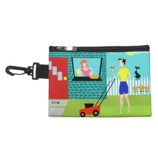 Retro Saturday Morning Clip-On Accessory Bag