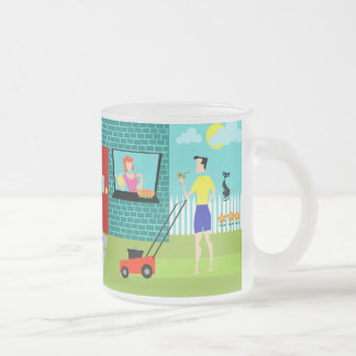 Retro Saturday Morning Frosted Glass Mug