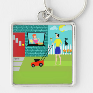 Retro Saturday Morning Keychain