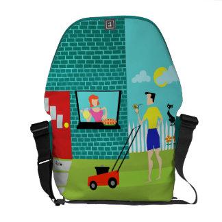 Retro Saturday Morning Messenger Bag
