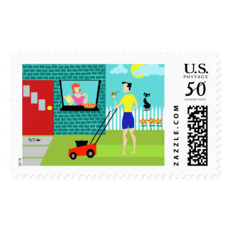 Retro Saturday Morning Postage Stamps