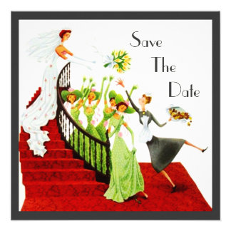 Retro SAVE THE DATE ANNOUNCEMENT EZ to Customize