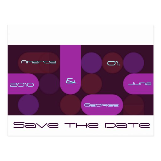 Retro save the date card post card