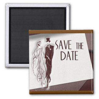 Retro Save The Date Magnet
