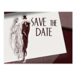 Retro Save the date Postcard
