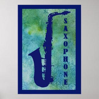 Retro Saxophone Poster