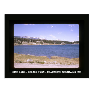 Retro Scenic Highway Long Lake Colter Pass Postcard