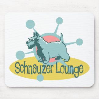 Retro Schnauzer Lounge Mouse Pad