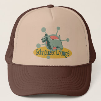 Retro Schnauzer Lounge Trucker Hat