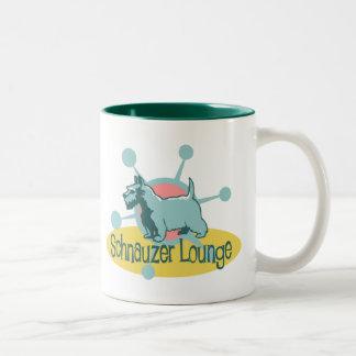 Retro Schnauzer Lounge Two-Tone Coffee Mug