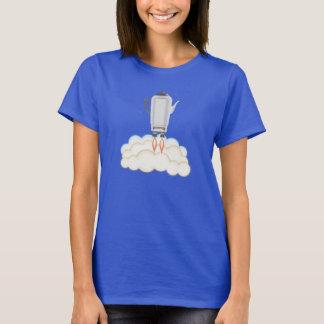 Retro sci-fi coffee pot percolator rocket ship T-Shirt