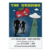 Retro Sci Fi Poster Wedding Invitation