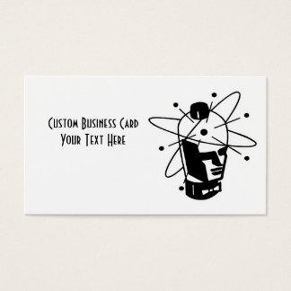 Retro Sci-Fi Robot Head - Black & White Business Card