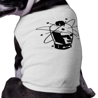 Retro Sci-Fi Robot Head - Black & White Pet Clothes