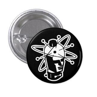 Retro Sci-Fi Robot Head - Black & White Pinback Button