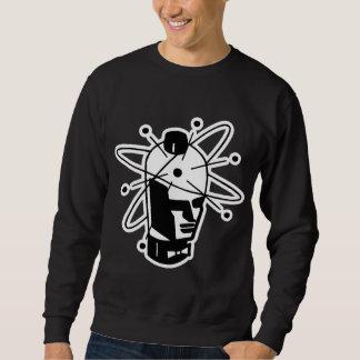 Retro Sci-Fi Robot Head - Black & White Sweatshirt