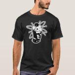 Retro Sci-Fi Robot Head - Black & White T-Shirt