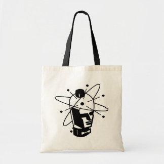 Retro Sci-Fi Robot Head - Black & White Tote Bag