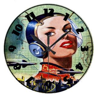 Retro Science Fiction Clock