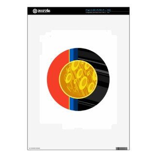 Retro Science Fiction Planet Decal For The iPad 2