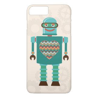 Retro Science Fiction Robot Heart Custom iPhone 8 Plus/7 Plus Case