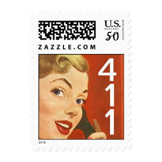 Retro Scoop Stamps 411 For Your Information notes