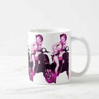 Retro Scooter Cowgirl Coffee Mug