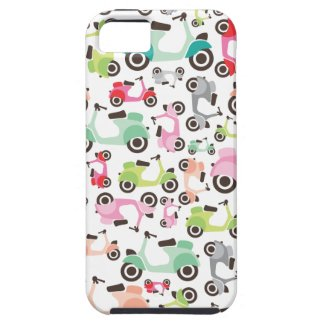 Retro scooter pattern art iphone 5 case