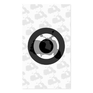Retro Scooter Silhouette Bookmark Business Card Template