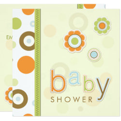 Retro Scrapbook Baby Shower invitation