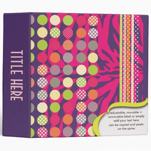 Retro scrapbooking binders, zebra print