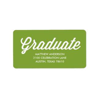 Retro Script | Graduation Address Label
