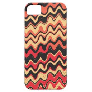 Retro Sea Wavy Stripes Pattern (Black, Red) iPhone SE/5/5s Case